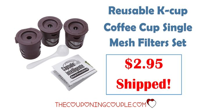 WOW! Get a 3 Pack of Reusable K Cup Filters for only $2.95 with FREE shipping! Great for using with your own coffee but still getting the convenience of single cup brewing!  Click the link below to get all of the details ► http://www.thecouponingcouple.com/3-pack-reusable-k-cup-filters-only-3-61-shipped/ #Coupons #Couponing #CouponCommunity  Visit us at http://www.thecouponingcouple.com for more great posts!