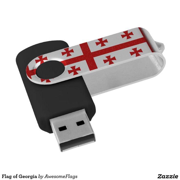 Flag of Georgia Swivel USB 2.0 Flash Drive