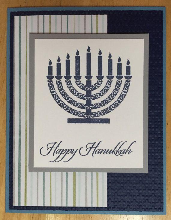 Hanukkah Card // Single Cards // Menorah // by HandmadeCardsByMel