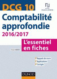 Robert Maéso - DCG 10 Comptabilité approfondie - L'essentiel en fiches. - Agrandir l'image