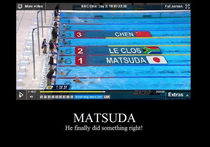 Yay for Matsuda! Well done :3  He won! by ~wafflebaconkeeper on deviantART