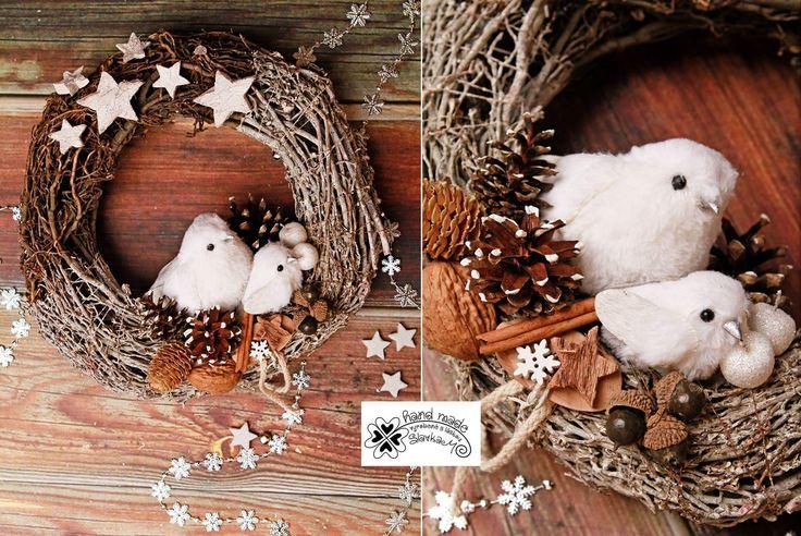 Christmas dekor Slavkam handmade vianočný veniec