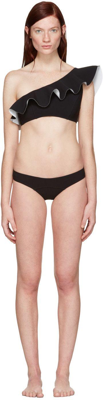 Lisa Marie Fernandez - Black Arden Flounce Bikini