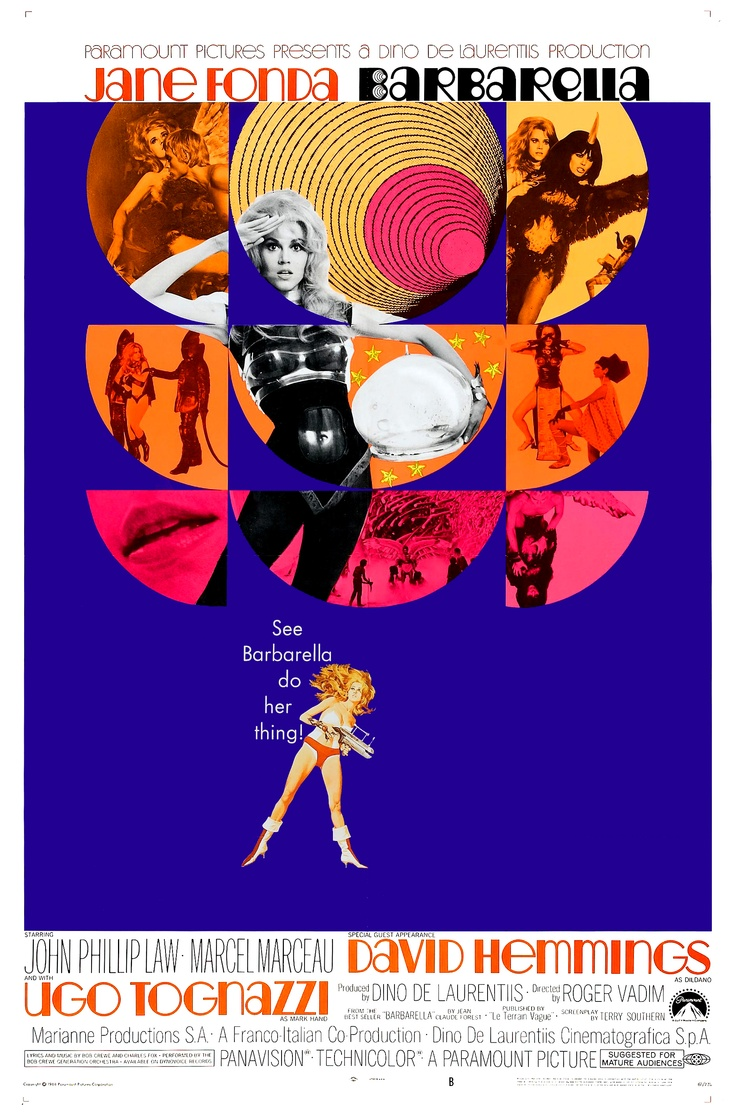 'Barbarella' Movie Poster, 1968