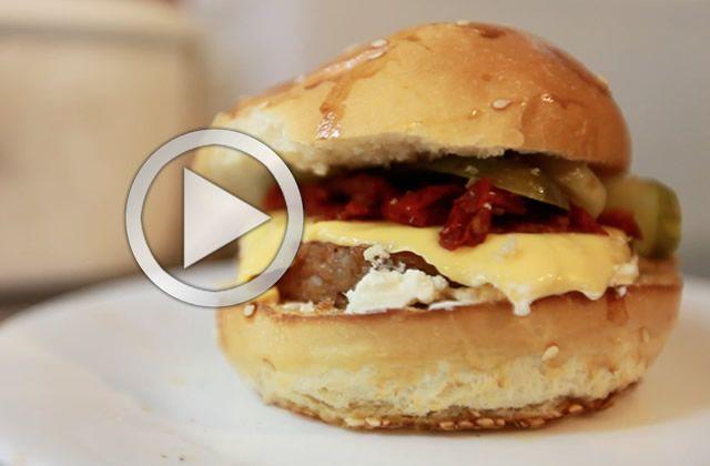 Le burger fromager 100% végétarien d'East Side Burgers