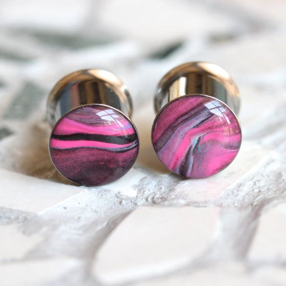 00g 10mm Ear Plugs Pink Gauges Pink Plugs Girl by FashionPlugs, $29.00
