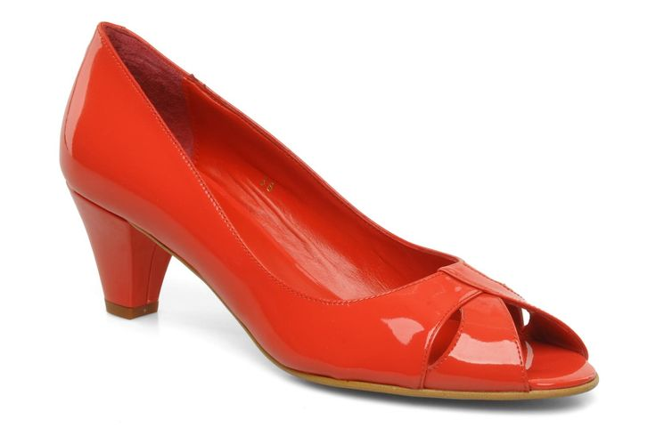 peep toe rojo
