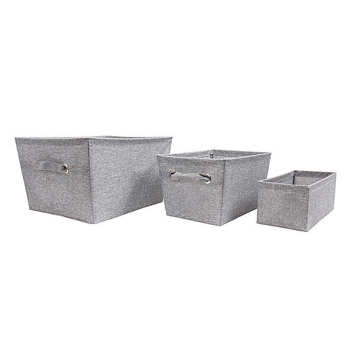 Salt Textured Canvas Storage Bin In Grey Bed Bath Beyond Canvas Storage Storage Bin Canvas Texture