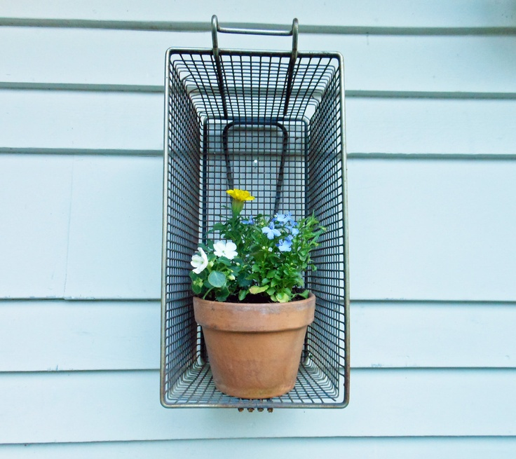 Finally, a healthy use for all those deep fryers! Vintage Metal French Fry Basket - Industrial.