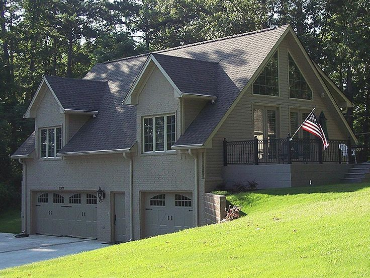 20 best garage plans for a sloping lot images on pinterest for Building a detached garage on a slope