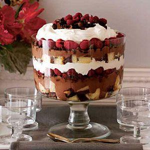 Chocolate-Raspberry Pound Cake Trifle
