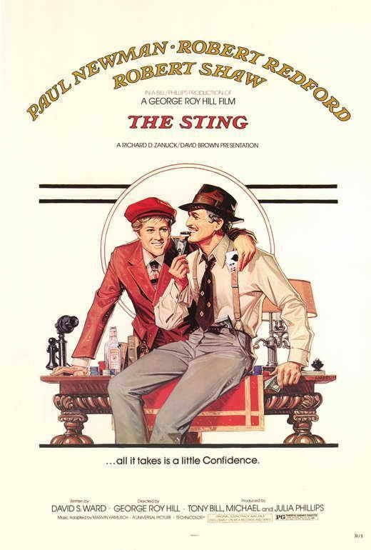 The Sting Movie Poster 27 X 40 Paulman Robert Redford A Licensed