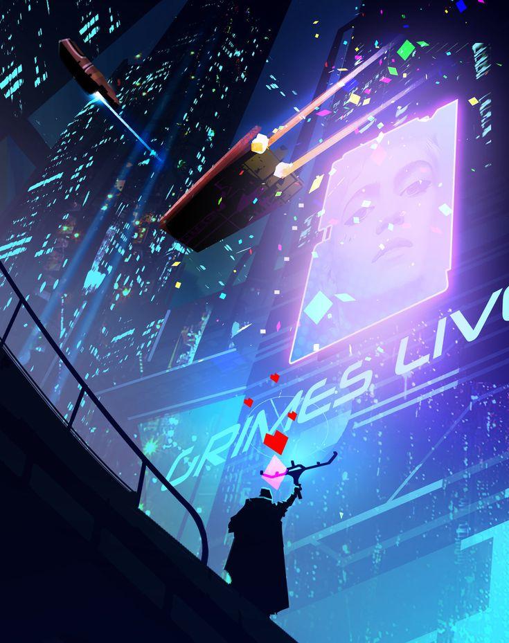 ArtStation - Cyberpunk Grimes Theme, Steve Palmerton