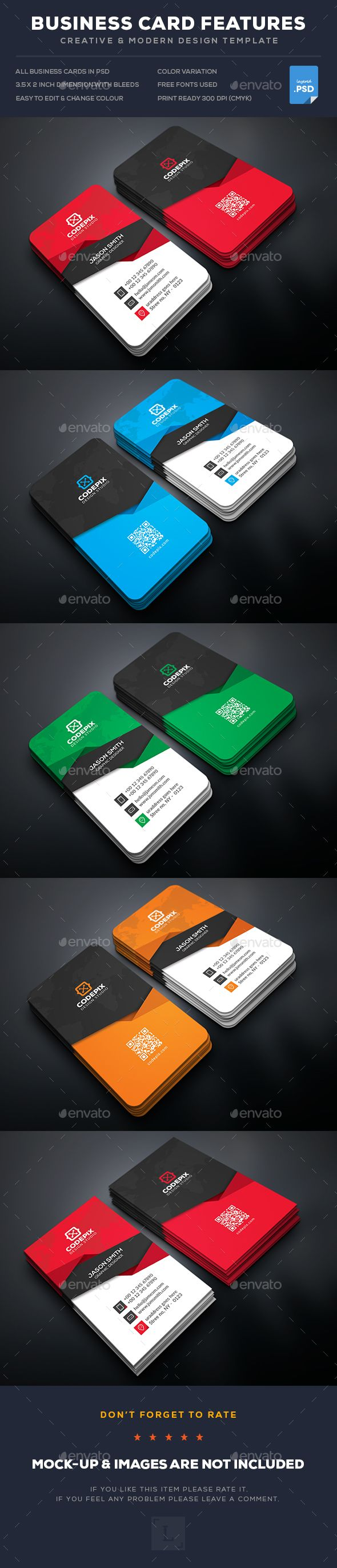 Business Card Template PSD. Download here: https://graphicriver.net/item/business-card/16967154?ref=ksioks
