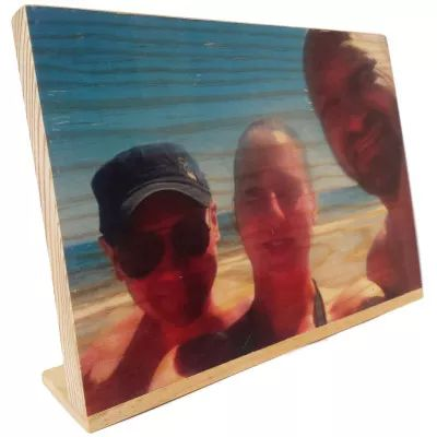 Foto impresión en una sola pieza de madera (29cm x 20cm)   CraftAndDeco.com