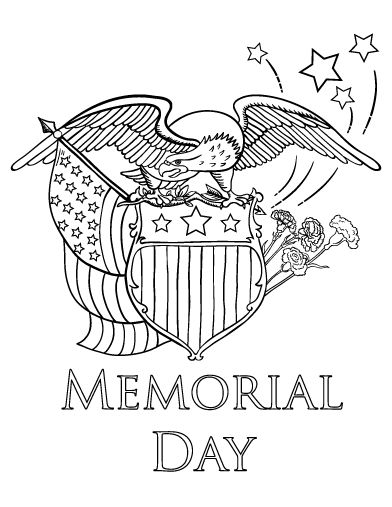 Printable Memorial Day coloring page. Free PDF download at ...