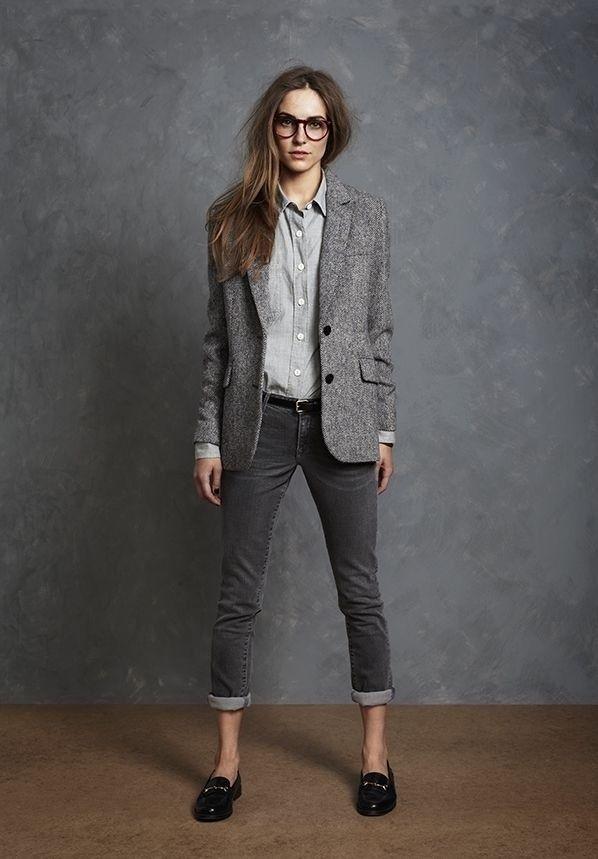 Salón gris camisera pantalones noT that new y zapatos steve madden
