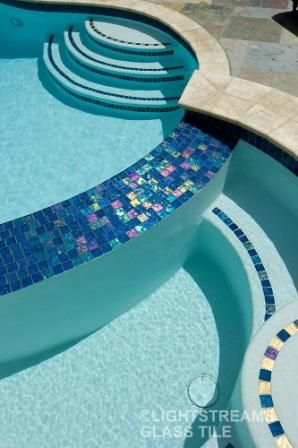 """Aqua blue glass tile 