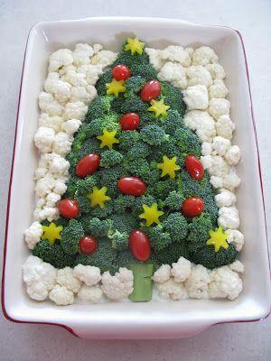 Meandering...: Holiday Treats - Part II Veggie Tree