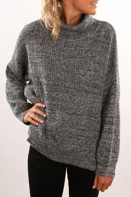 sadie knit sweater black white