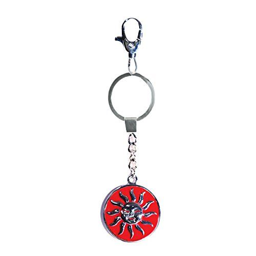 KeyChain Key Chain RED SUN Logo Emboss (It can be used with Keyholder Hook Ring Keyhanger and Keyring - Travel Luggage Bags HandBag School Bag Purse Backpack Briefcase Clutches Hobos Shoulder Messenger Potlis Wristlets & Satchels Sling Cross-Body Totes even use as Gift offerings Fashion Clothing Accessories Camera Electronics Photo Kitchen Home accessory for Men Women Teens Boys Girls Couples Teenage Youngsters Adults Car Bike Two Four Wheeler by Tech Fashion)-TF-10 http://t