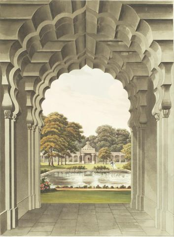 REPTON (HUMPHRY) Designs for the Pavilion at Brighton, J.C. Stadler, [watermarked 1822]