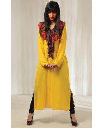 I LUV Designer - stylish pakistani designer casual dress with tights - Pakistani Dresses Latest Fashion