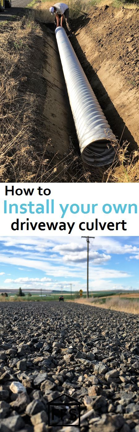 DIY your own driveway entrance culvert for free. save a few hundred bucks doing it yourself