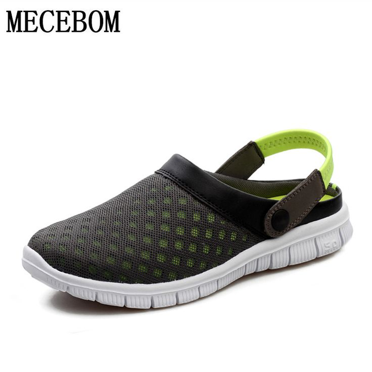 Big Size 36-46 Men's Summer Shoes Sandals Breathable Beach Flip Flops Mens Slippers Mesh Light Shoes Outdoor Slip On L927M #jewelry, #women, #men, #hats, #watches, #belts
