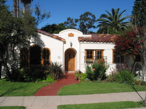 60 best spanish style exterior images on pinterest for Spanish revival home plans