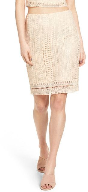 Leith High Waist Lace Body-Con Skirt