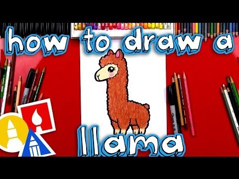 How To Draw A Cartoon Llama - Art For Kids Hub -
