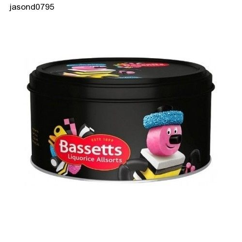 Cadburys Bassetts Liquorice Allsorts Tin 800g  (Pack of 2) kids Sweets treats