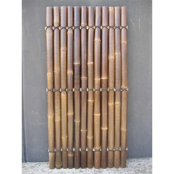 Screen panel bamboo 1800x900x35mm black half raft for Outdoor bamboo screen panels