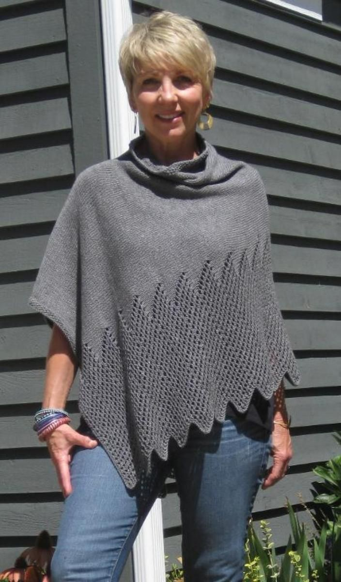 Colorful Pattern For Knitted Poncho Gift - Blanket Knitting Pattern ...