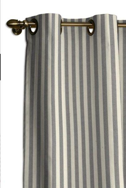 Gardinen - Vorhang mit Ösen - Grau/Ecru gestreift - ein Designerstück von dekoria-at-home bei DaWanda