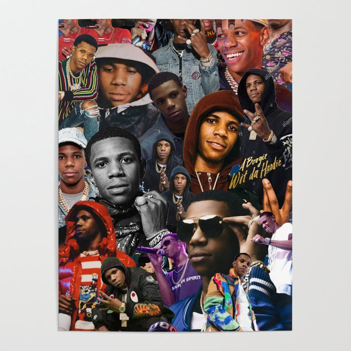 boogie wit da hoodie collage poster