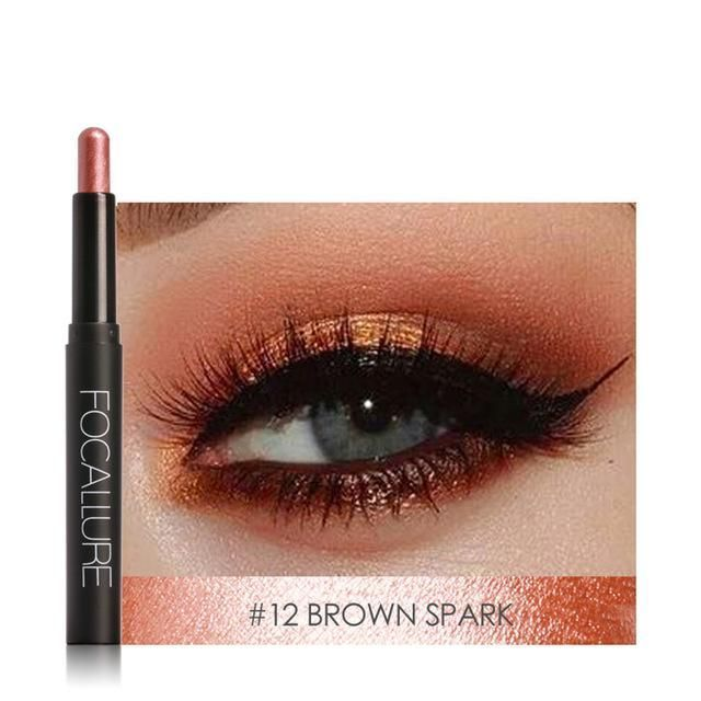 12 colors glitter smokey pencil waterproof eyeshadow liner Combination makeup tools