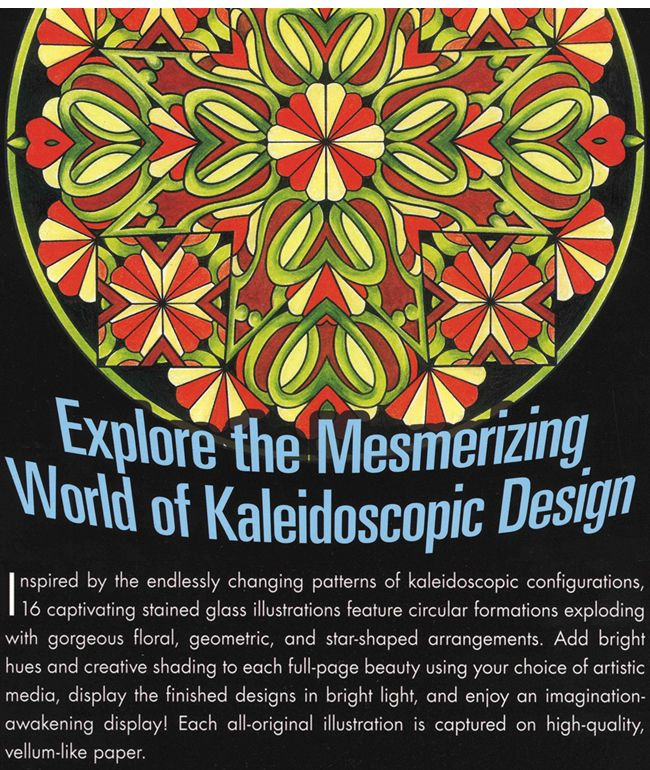 Welcome To Dover Publications Kaleidoscopic Design Kids ColoringColoring PagesDover