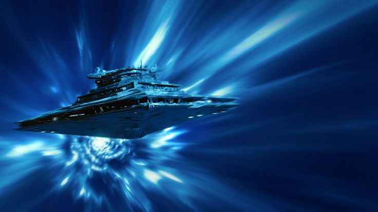 Resurgent class star destroyer traveling in hyperspace