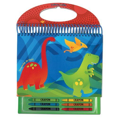 Stephen Joseph Dino Sketch Pad by Stephen Joseph. $9.45. Includes 6 crayons. 100 pages. Resealable crayon pouch. From the Manufacturer                Each sketch pad comes with six crayons and easy carry handle. Includes 100 pages and resealable crayon pouch for endless creativity. Hard backing makes it easy to use as a lapdesk.                                    Product Description                Make activity time easy with our new Sketch Pads! Each Sketch Pad comes with six...