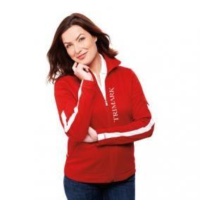 """Veste en tricot """"First"""" pour femme. Personnalisez-le avec votre logo."""
