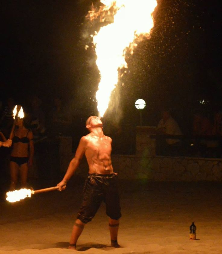 Animation Fire show in Aldemar Olympian Village!!!