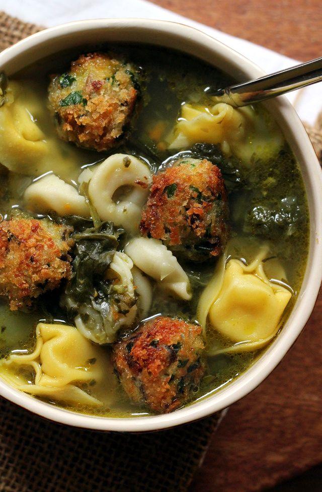 Italian Wedding Soup With Veggie Balls
