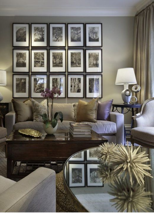 17 best images about mauve lounge ideas on pinterest - Picture wall ideas for living room ...