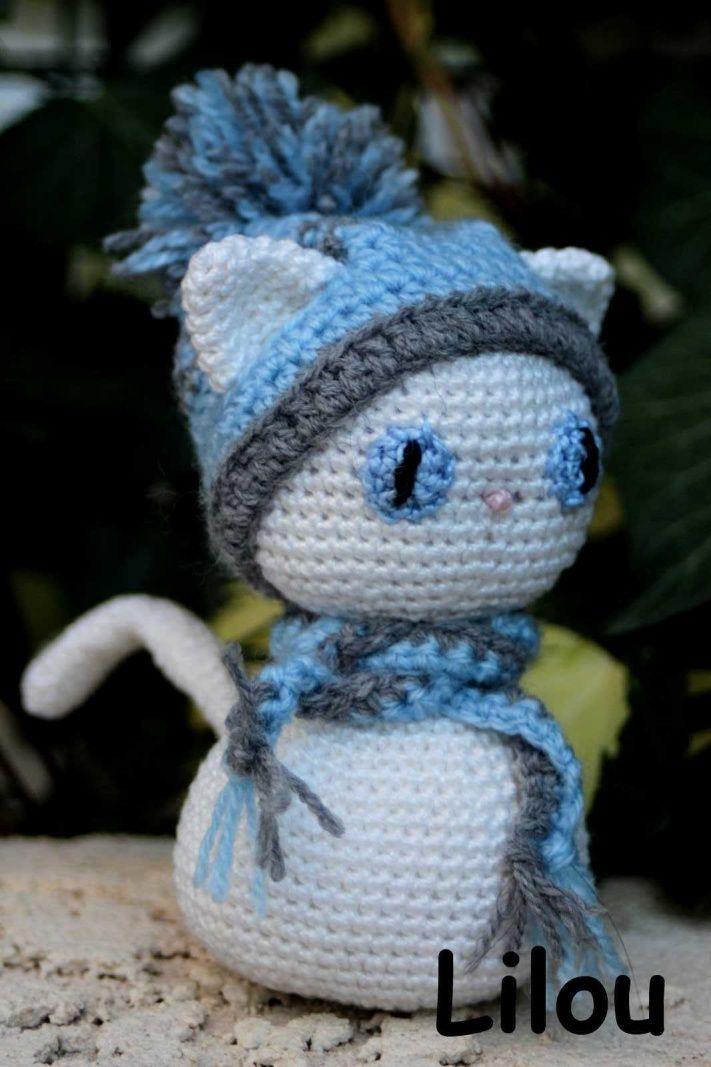 Chat D Hiver Diy Modele Tuto Gratuit Crochet Animals Pinterest