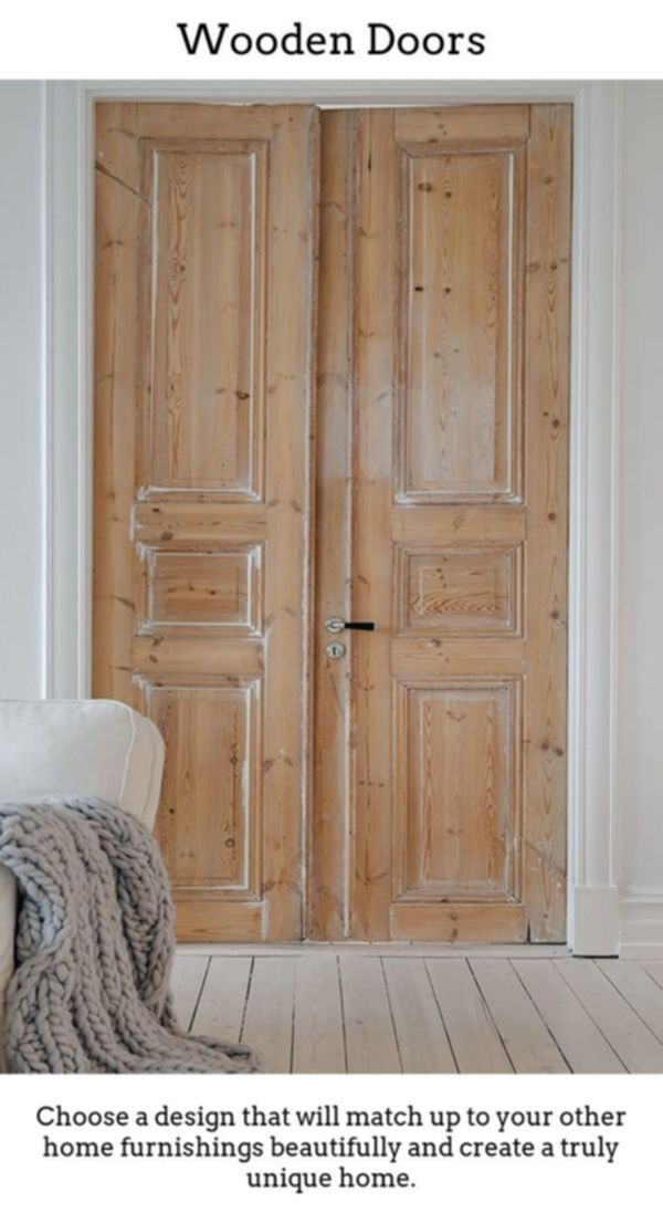 Prefinished Interior Doors Wood And Glass Doors Double Panel