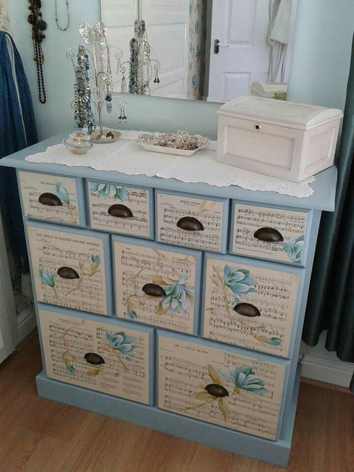 decoupage ideas for furniture. upcycled furniture diy sheet music cool stuff decoupage shabby decorating dressers google search ideas for d