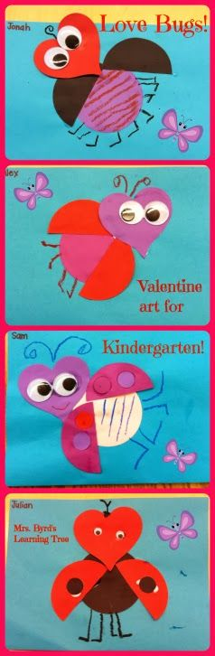 Mrs. Byrd's Learning Tree: Love Bugs! Cute Valentine art for Kids.