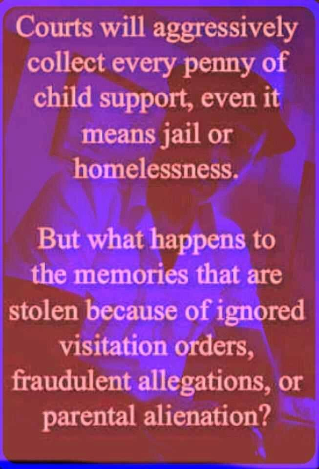 Exactly! Parental Alienation is illegal! Some mothers don't realize that they can go to jail or lose custody when they do this. They need to stop the alienation and just follow the court orders for the Joint Custody or they can end up not having any custody at all.  All fathers dealing with this need to save evidence just as we have done. Videos, emails, texts, letters, etc.